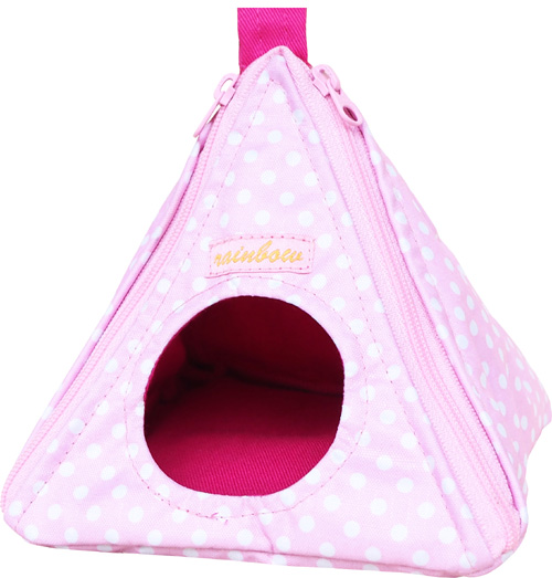 ミニミニとんがりハウス 水玉ピンク