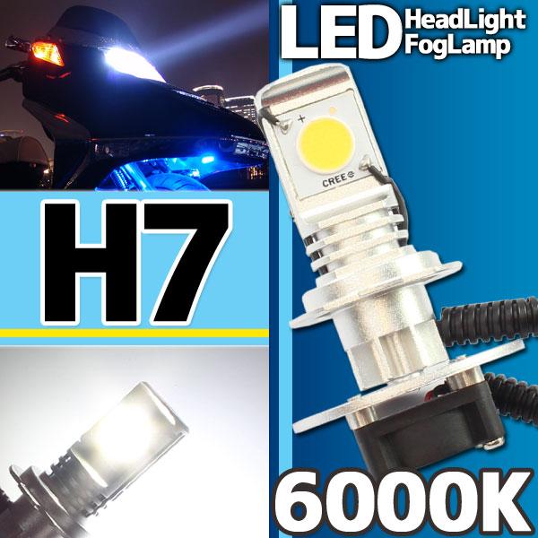 CREE社製 LEDヘッドライト フォグランプ H7 6000k 1灯分
