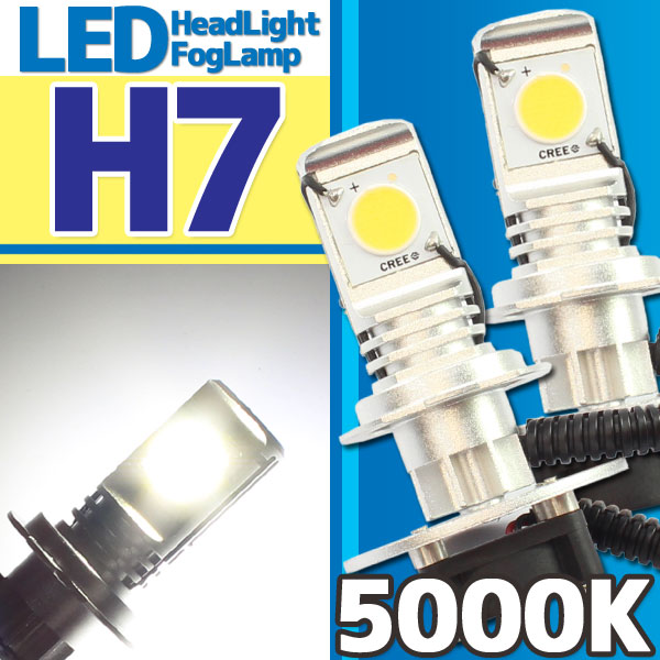 CREE社製 LEDヘッドライト フォグランプ H7 5000k