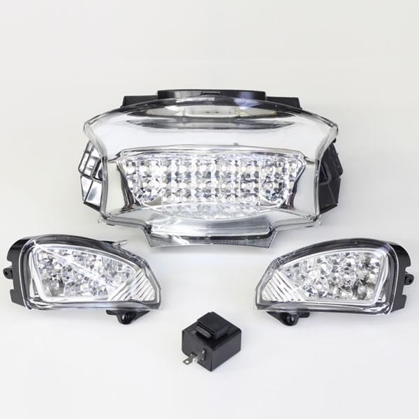 PCX LEDテールランプ&ウインカー/クリア