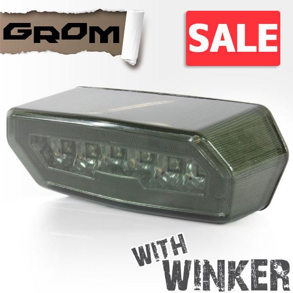 ★セール GROM グロム MSX125用(JC61):LED ウインカー付き スモーク テールランプ