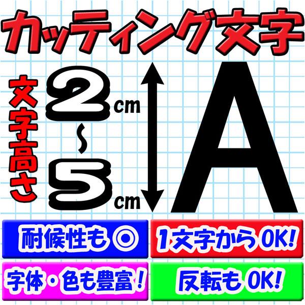 カッティング文字 2cm/3cm/4cm/5cm