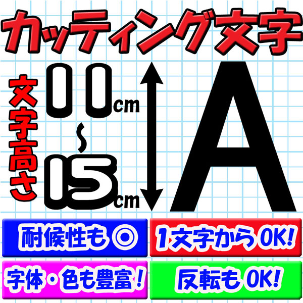 カッティング文字 11cm/12cm/13cm/14cm/15cm