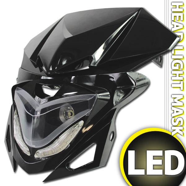 汎用 ストリートエッジ LEDヘッドライト ブラック