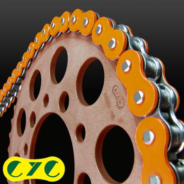 CYC バイクチェーン:420-120L カラーチェーンオレンジ/橙