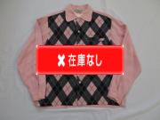 50'S グレーXピンクアーガイルシャツ