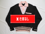 50'S Charles Black&Pinkリブシャツ