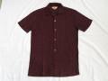 50'S BlackXRed 透かし織りシャツ
