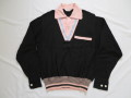 50'S Charles Black&Pinkリブシャツ