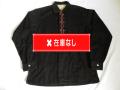 50'S PILGRIM ブラックコーデュロイ刺繍シャツ