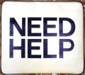 スミス ボートクッション(NEED HELP ロゴ)