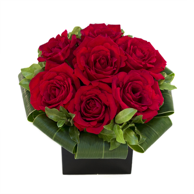Red Rose Modern arrangement