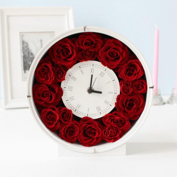 Anniversary Clock : アニバーサリー・時計(記念日のお祝いに花時計)【送料無料】