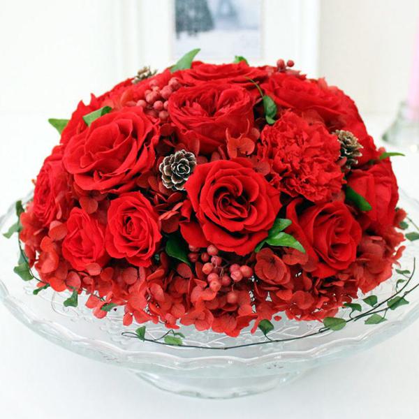Celebrate Superior : セレブレイト スーペリア (プリザーブドの花束のガラスド−ム)【送料無料】