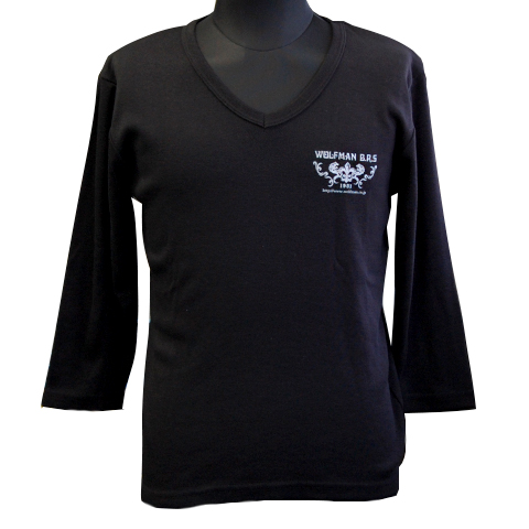 七分袖Tシャツ/クライングウルフ