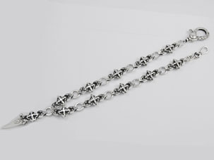 SK Shooting Star Double Dagger Wallet Chain