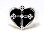 Heart Cross Ring