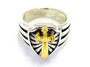 EXCALIBUR RING WITH GOLD DAGGER
