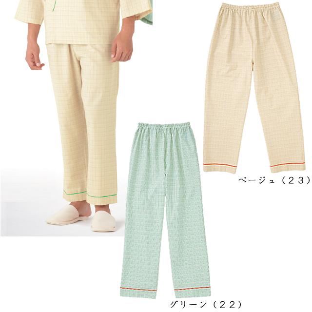 KAZEN(カゼン) 286-22・286-23 チェック 患者衣スラックス