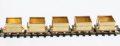鉱車5両未塗装サンプル