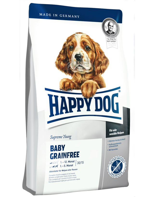 HAPPY DOG ベビー グレインフリー (穀物不使用) - 1kg