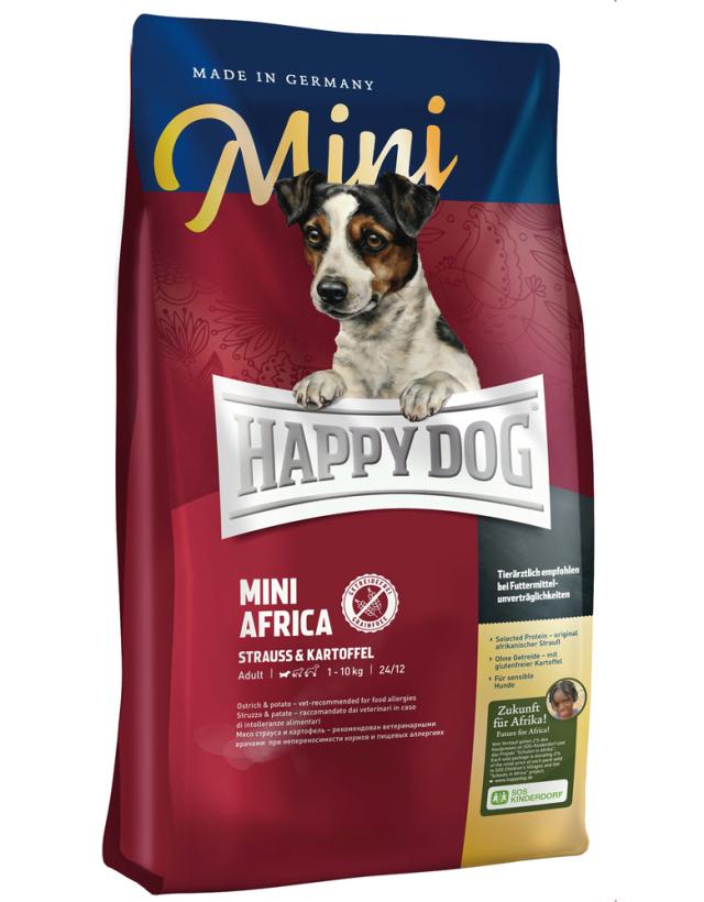 【定期購入】 HAPPY DOG ミニ アフリカ(ダチョウ)アレルギーケア - 1kg