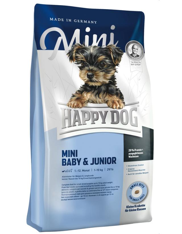 【定期購入】 HAPPY DOG ミニ ベビー&ジュニア - 1kg