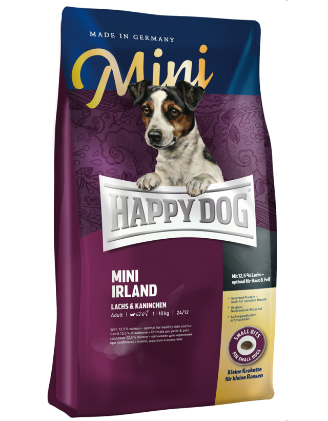 【定期購入】 HAPPY DOG ミニ アイルランド(サーモン&ラビット)スキンケア - 1kg