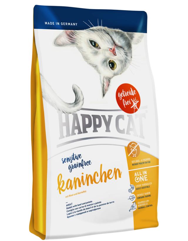 HAPPY CAT グレインフリー カニンヘン(ラビット&ビーフ)穀物不使用 - 300g