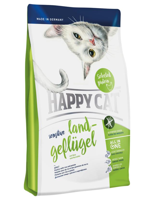 HAPPY CAT ビオ ゲフルーゲル(オーガニックチキン) グルテンフリー - 4kg