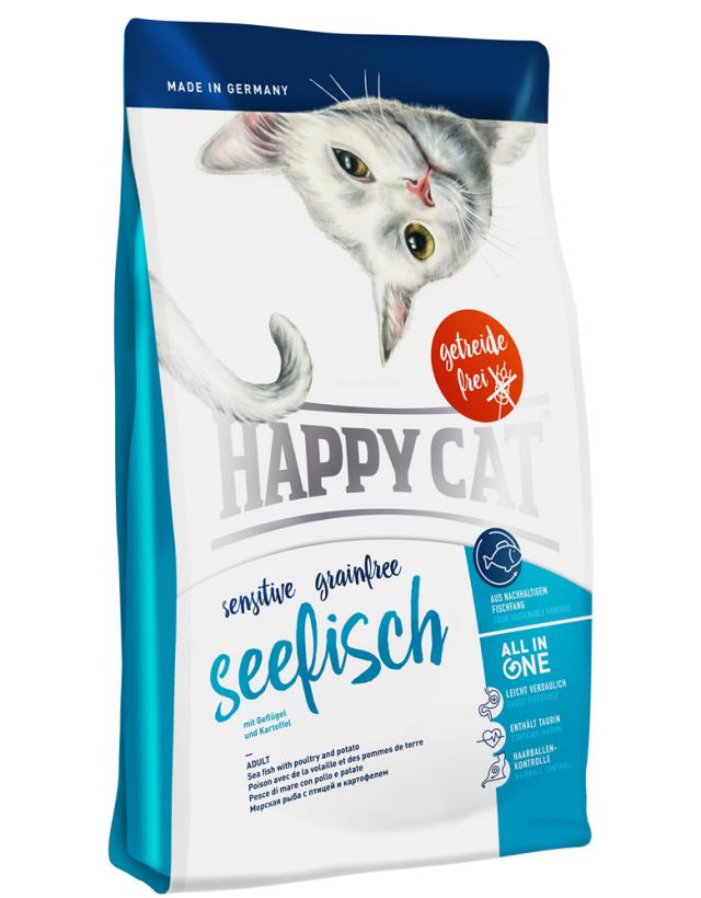 HAPPY CAT グレインフリー シーフィッシュ(チキン&シ-フィッシュ)穀物不使用 - 300g
