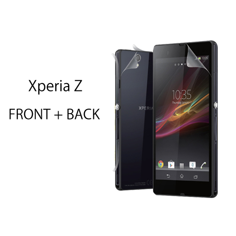 Xperia Z SO-02E対応 全面保護 (液晶面+背面&側面) Wrapsol ULTRA (ラプソル ウルトラ) 衝撃吸収フィルム (WPXZULTR-FB)
