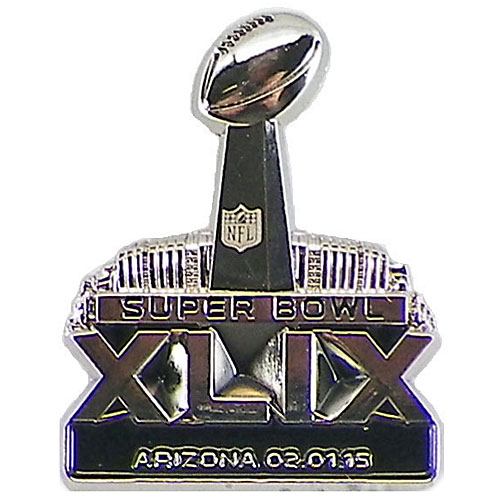 NFL第49回スーパーボウル 3-D ロゴピン 2015 Super Bowl XLIX 3-D Logo Pin
