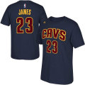 NBA ��֥�󡦥������ॺ �ԥ���ġʥͥ��ӡ��˥���Хꥢ���� adidas Cleveland Cavaliers LeBron James Navy Blue Game Time T-Shirt