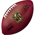 "NFL 公式球 (オフィシャルボール) Wilson Official Size NFL """"Duke"""" Leather Game Ball"