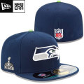 NFL�����ѡ��ܥ���XLVIII 59FIFTY�����ɥ饤�󥭥�å� �����ۡ������ʥͥ��ӡ��� New Era Seattle Seahawks Super Bowl