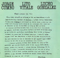 Jorge Cumbo - Lito Vitale - Lucho Gonzalez