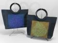 リーフ刺繍 キラキラビーズバッグ