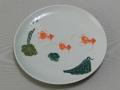 【バッチャン焼】金魚の大きなお皿