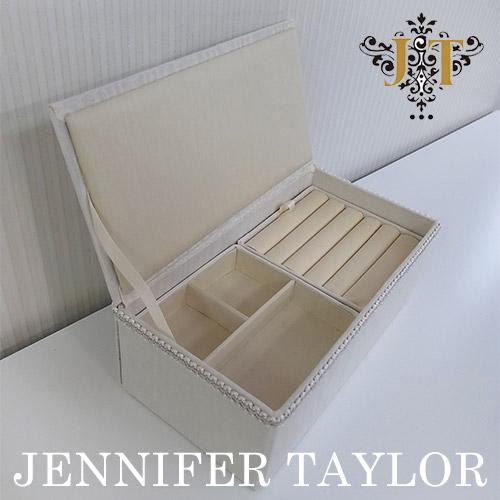 【ポイント5倍 5月】ジェニファーテイラー Jennifer Taylor ジュエリーボックス・Chinon(WH)
