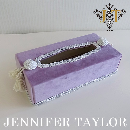 【ポイント5倍 5月】ジェニファーテイラー Jennifer Taylor ティッシュBOX・Bois De Rose