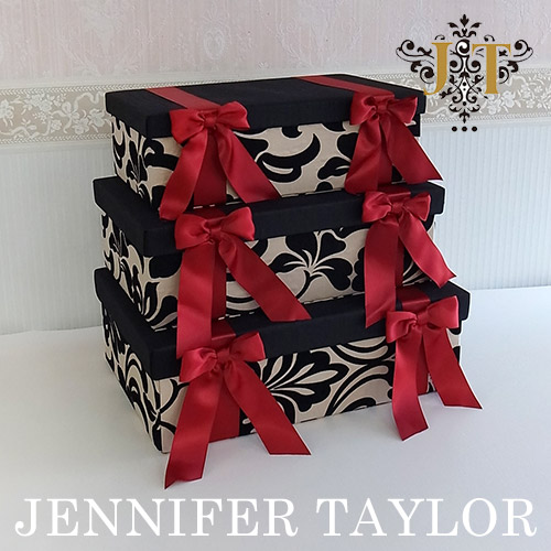 【送料無料】ジェニファーテイラー ☆Jennifer Taylor☆ BOX3Pセット・Yorke-Red