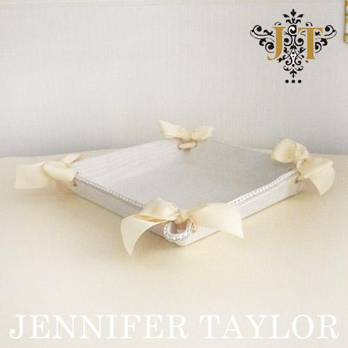 【ポイント5倍 5月】ジェニファーテイラー Jennifer Taylor トレイ(正方形)・Chinon-WH