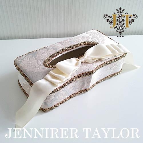 【ポイント5倍 5月】ジェニファーテイラー Jennifer Taylor ティッシュBOX・Lorraine-SL(リボン)