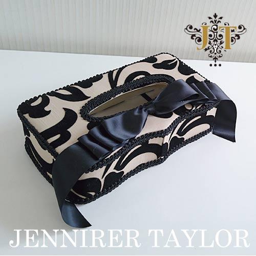 【ポイント5倍 5月】ジェニファーテイラー Jennifer Taylor ティッシュBOX・York(リボン)