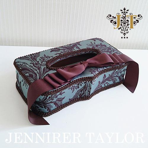 【ポイント5倍 5月】ジェニファーテイラー Jennifer Taylor ティッシュBOX・Carlisle(リボン)