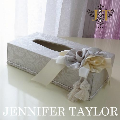 【ポイント5倍 5月】ジェニファーテイラー Jennifer Taylor ティッシュBOX・Haruno-Gray