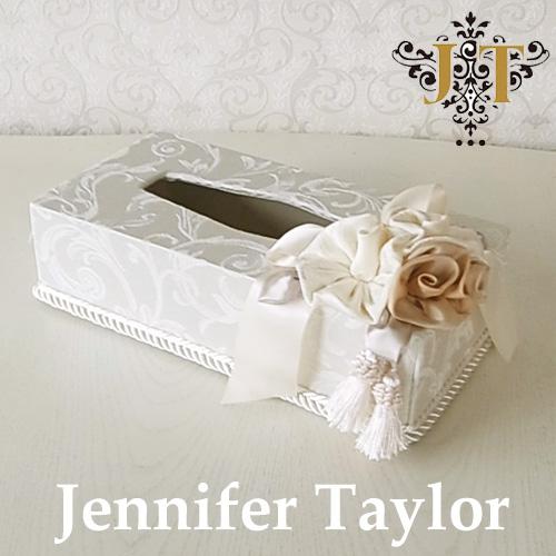 【ポイント5倍 5月】ジェニファーテイラー Jennifer Taylor ティッシュボックス・Florence(WH)