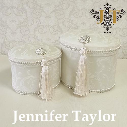 【ポイント5倍 5月】ジェニファーテイラー Jennifer Taylor オーバルBOX2P・Florence(WH)