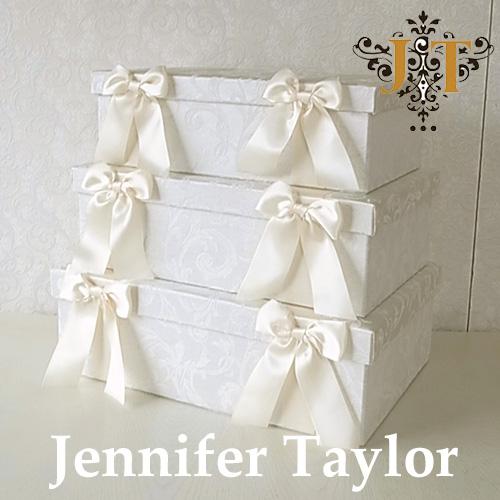【ポイント5倍 5月】【送料無料】ジェニファーテイラー Jennifer Taylor BOX3Pセット・Florence(WH)